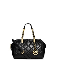 Michael Kors Susannah Quilted Small Satchel Black