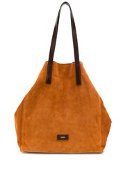 Closed Oversized Tote Brown