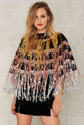 Jaded London All That Sequin Cape Multi