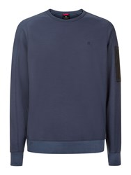 Victorinox Soldat Pique Crew Neck Sweatshirt Sea Blue