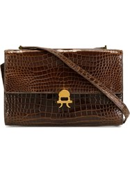 Hermes Vintage Flap Shoulder Bag Brown