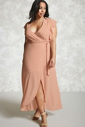 Forever 21 Plus Size Surplice Maxi Dress Blush