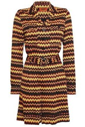 Missoni Belted Metallic Crochet Knit Playsuit Black
