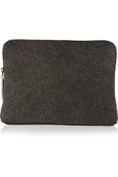 3.1 Phillip Lim 31 Minute Metallic Crepe And Leather Clutch Black