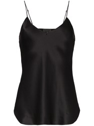 Nili Lotan Sleeveless Silk Cami Black