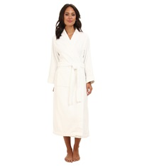 Lauren Ralph Lauren Greenwich Woven Terry Long Robe White Women's Robe