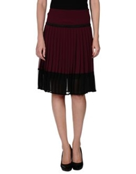 Giorgia And Johns Knee Length Skirts Maroon