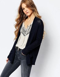 Hollister Cocoon Knit Cardigan Navy