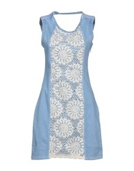 Desigual Short Dresses Blue