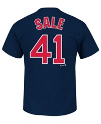 Majestic Men's Chris Sale Boston Red Sox Official Player T Shirt Navy