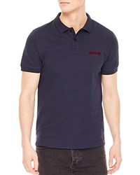 Sandro Amour Classic Fit Polo Navy Blue