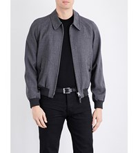 Tom Ford Tropical Wool And Silk Bomber Jacket Grey