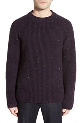 Men's Zachary Prell 'Baker Street' Flecked Wool And Cashmere Crewneck Sweater