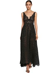Elie Saab Cotton Blend Lace Dress W Poplin Bow Black
