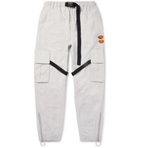 Off White Tapered Tech Jersey Cargo Trousers Gray