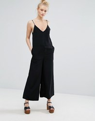 Monki Cami Strap Wide Leg Jumpsuit Black