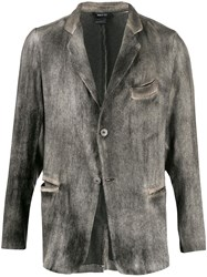 Avant Toi Distressed Effect Blazer 60