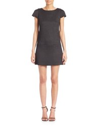 Alice Olivia Delaney Puffed Cap Sleeve Dress Black