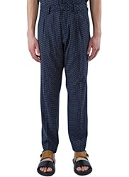 Abasi Rosborough Arc Striped Straight Leg Pants Navy
