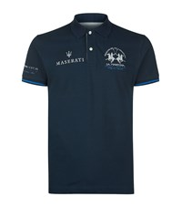 La Martina Logo Polo Shirt Male Navy