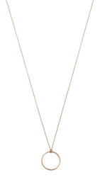 Ginette_Ny Mini Circle Necklace Rose Gold