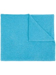 Allude Knit Scarf Blue