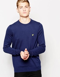 Lyle And Scott Vintage Jumper With Crew Navy