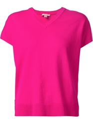 Michael Kors V Neck Knit Top Pink And Purple