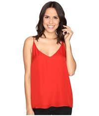 Heather Silk Double Layer Cami Top Poppy Women's Clothing Red