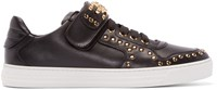 Versace Black Studded Low Top Sneakers