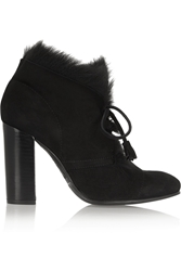 Pedro Garcia Barbara Goat Hair Lined Suede Boots