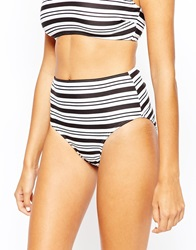 Evil Twin Splinter Bikini Bottom Blackwhitestripe