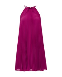 Ted Baker Emelay Bow Detail Pleated Dress Purple