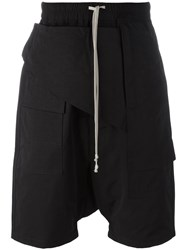 Rick Owens Drkshdw Drawstring Drop Crotch Shorts Black