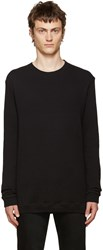 Naked And Famous Black Double Face Crewneck