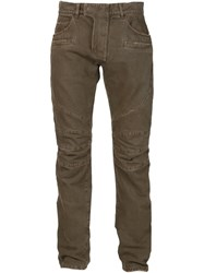 Balmain Biker Jeans Brown