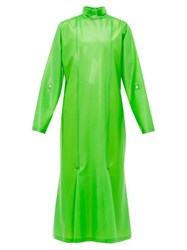 Christopher Kane Gathered Latex Midi Dress Green