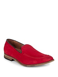 Bacco Bucci Suede Loafers Red