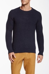 Apolis Co Op Alpaca Wool Crew Neck Sweater Blue