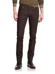 J. Lindeberg Mid Rise Slim Fit Jeans Dark Brown