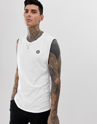Religion Tank With Drop Armhole In White