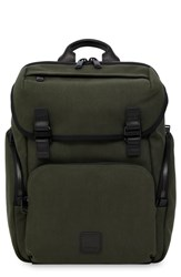 Knomo Fulham Thurloe Waxed Canvas Backpack With Rfid Pocket Green