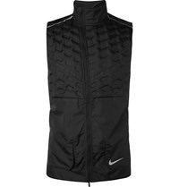 Nike Running Aeroloft Quilted Shell Down Gilet Black