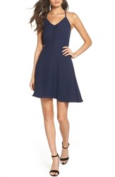 19 Cooper Crepe Skater Dress Navy