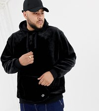 Soul Star Plus Teddy Kangaroo Hoodie Black