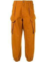 Marques Almeida Marques'almeida Tapered Cargo Trousers Orange