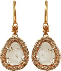 Sharon Khazzam Women's Brown Diamond Slice Earrings Colorless