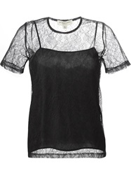 Burberry London Sheer Lace Top Black