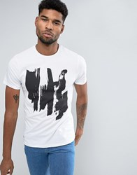 Native Youth Abstract T Shirt White