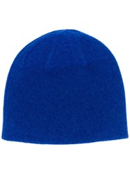 N.Peal Double Layer Cashmere Beanie Blue